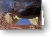 Waterhole Greeting Cards - Buckskin Gulch Reflection Greeting Card by Sandra Bronstein