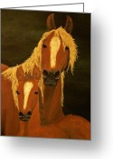 Copyright Protected. Greeting Cards - Buckskins Greeting Card by Barbara St Jean