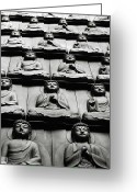 Cities Art Greeting Cards - Buddha Wall, Korea Greeting Card by © Colin Roohan. All Rights Reserved.