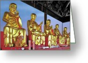 Asian Art Greeting Cards - Buddhas Delight - Representations of Buddhism Greeting Card by Christine Till - CT-Graphics