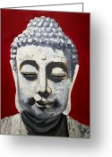 Sanctified Greeting Cards - Buddhism and Conservation Greeting Card by Dave Sherwood-Adcock