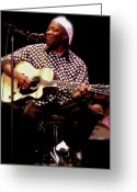 Collectibles Greeting Cards - BUDDY GUY Buddy Guy Greeting Card by Iconic Images Art Gallery David Pucciarelli