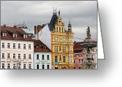 Winter Travel Greeting Cards - Budweis - Pearl of Bohemia - Czech Republic Greeting Card by Christine Till