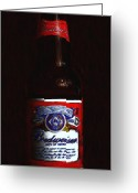 Pubs Greeting Cards - Budweiser - King of Beers Greeting Card by Wingsdomain Art and Photography