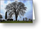 Kitsap Peninsula Greeting Cards - Buena Vista Cemetery Port Gamble Greeting Card by Kelly Manning