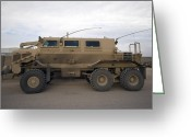 Wheels Greeting Cards - Buffalo Mine Protected Vehicle Greeting Card by Terry Moore