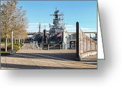 Western Digital Art Greeting Cards - Buffalo Naval and Military Park Greeting Card by Peter Chilelli