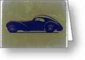 European Cars Greeting Cards - Bugatti 57 S Atlantic Greeting Card by Irina  March