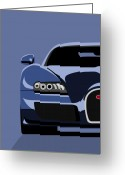 Pop Art Digital Art Greeting Cards - Bugatti Veyron Greeting Card by Michael Tompsett