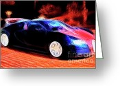 Transportation Digital Art Greeting Cards - Bugatti Greeting Card by Wingsdomain Art and Photography