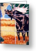 Wildlife Art Ceramics Greeting Cards - Bugling Moose Greeting Card by Dy Witt