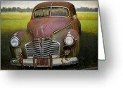 Old Country Roads Painting Greeting Cards - Buick Eight Greeting Card by Doug Strickland