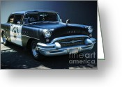 Fifties Buick Greeting Cards - Buick patrol Greeting Card by Danuta Bennett