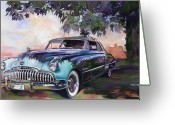 Fifties Buick Greeting Cards - Buick Roadmaster Dynaflow 1949 Greeting Card by Mike Hill