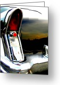 Fifties Buick Greeting Cards - Buick Tail Light Greeting Card by James Yellen