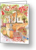 Vertical Painting Greeting Cards - Building-around-my-apartment-West-Hollywood-CA Greeting Card by Carlos G Groppa
