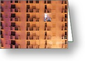 Apartment Greeting Cards - Building facade Greeting Card by Carlos Caetano