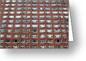Manhattan Greeting Cards - Building Facade Greeting Card by Caspar Benson
