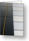 Abstract Building Greeting Cards - Building Photo Abstract Greeting Card by Marsha Heiken