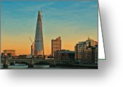 Vibrant Greeting Cards - Building Shard Greeting Card by Jasna Buncic