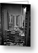 Hong Kong Greeting Cards - Buildings In Hong Kong Greeting Card by All rights reserved to C. K. Chan