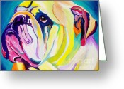 Bright Greeting Cards - Bulldog - Bully Greeting Card by Alicia VanNoy Call