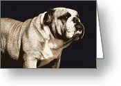 British  Greeting Cards - Bulldog Spirit Greeting Card by Michael Tompsett