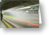 Boy Room Art Greeting Cards - Bullet Train Greeting Card by Sebastian Musial