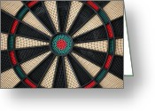 Gameroom Greeting Cards - Bullseye Greeting Card by Robby Green