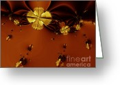 Bumble Greeting Cards - Bumble Beez Over Chocolate Lake . S19 Greeting Card by Wingsdomain Art and Photography