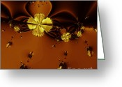 Bumble Greeting Cards - Bumble Beez Over Chocolate Lake . Square . S19 Greeting Card by Wingsdomain Art and Photography