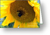Bumble Greeting Cards - Bumble Rumble Greeting Card by Karen Wiles