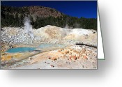 Fumarole Greeting Cards - Bumpass Hell landscape Greeting Card by Pierre Leclerc