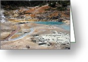 Fumarole Greeting Cards - Bumpass Hell Lassen Volcanic Greeting Card by Pierre Leclerc