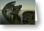 Shipwreck Greeting Cards - Bumped the Glump Greeting Card by Jakub Sisak