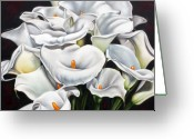 Lilies Sculpture Greeting Cards - Bunch of Lilies Greeting Card by Ilse Kleyn