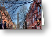 Suffolk County Greeting Cards - Bunker Hill Greeting Card by Susan Cole Kelly
