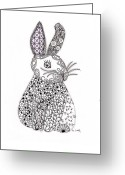 Paula Dickerhoff Greeting Cards - Bunny Too Greeting Card by Paula Dickerhoff