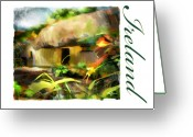 Irish Mixed Media Greeting Cards - Bunratty Village Ireland Greeting Card by Bob Salo