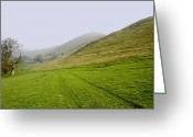 Dry Stone Wall Greeting Cards - Bunster Hill Footpath at Ilam Greeting Card by Rod Johnson