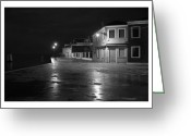 Houses Posters Greeting Cards - Burano I - Italy - Black and White Greeting Card by Marco Hietberg