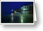 Houses Posters Greeting Cards - Burano I - Italy Greeting Card by Marco Hietberg