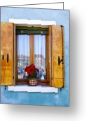 Sash Greeting Cards - Burano Window Greeting Card by Carl Jackson