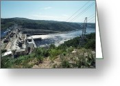 Hydroelectric Greeting Cards - Bureya Hydroelectric Dam Greeting Card by Ria Novosti