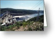 Hydroelectric Greeting Cards - Bureya Hydroelectric Dam, Russia Greeting Card by Ria Novosti