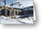 Hydroelectric Greeting Cards - Bureya Hydroelectric Power Station Greeting Card by Ria Novosti
