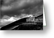 Gloomy Greeting Cards - Burg Ehrenfels Greeting Card by Justin Albrecht