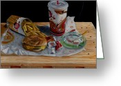 Value Greeting Cards - Burger King Value Meal No. 1 Greeting Card by Thomas Weeks