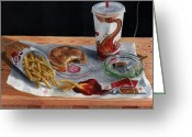 Value Greeting Cards - Burger King Value Meal no. 2 Greeting Card by Thomas Weeks