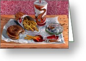 Value Greeting Cards - Burger King Value Meal no. 3 Greeting Card by Thomas Weeks